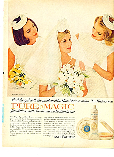 1963 Max Factor Paure Magic AD 3 Models Marry (Image1)