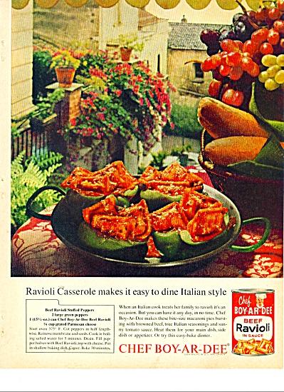 Chef Boy-ar-dee beef ravioli ad 1963 (Image1)