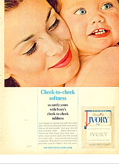 1963 IVORY SOAP AD - Mother and Child (Image1)