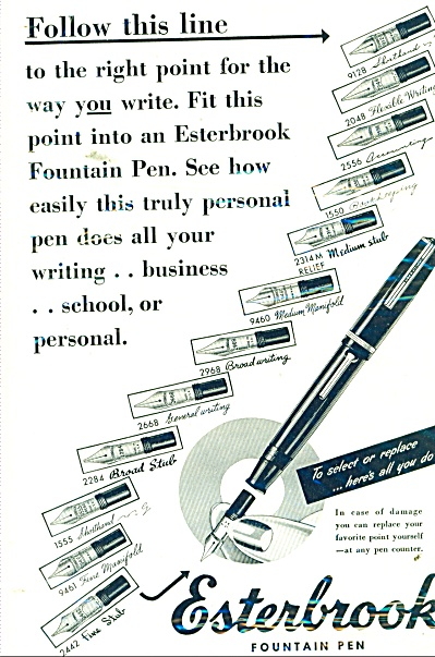 Easterbrook Fountain Pen Ad 1948