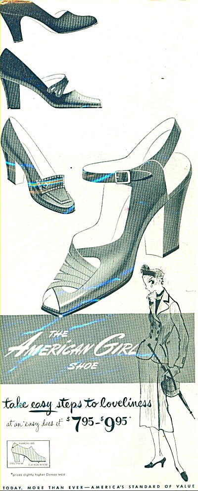 The American Girl shoe ad   1951 (Image1)
