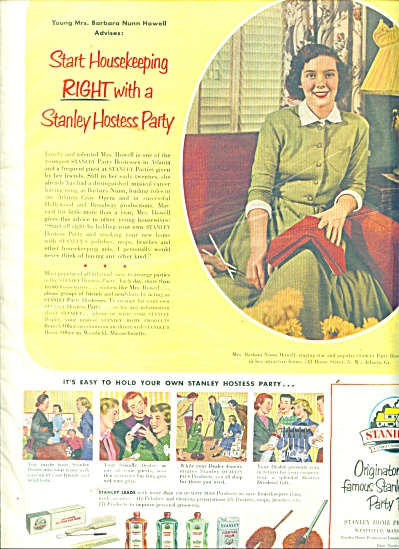 Stan Home products ad 1951 (Image1)