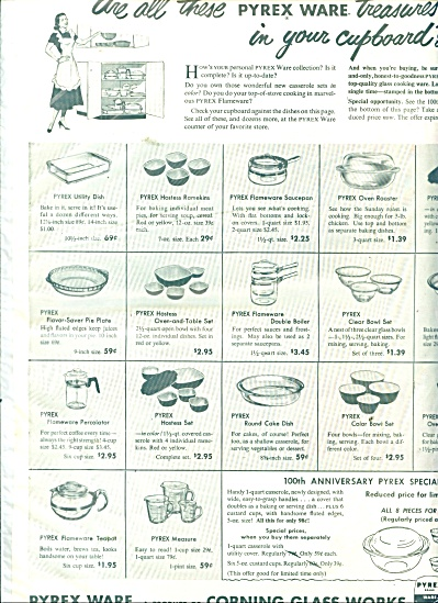 Pyrex Ware - Corning Glass Works Ad 1951