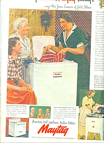 Maytag wash machine ad 1951 (Image1)