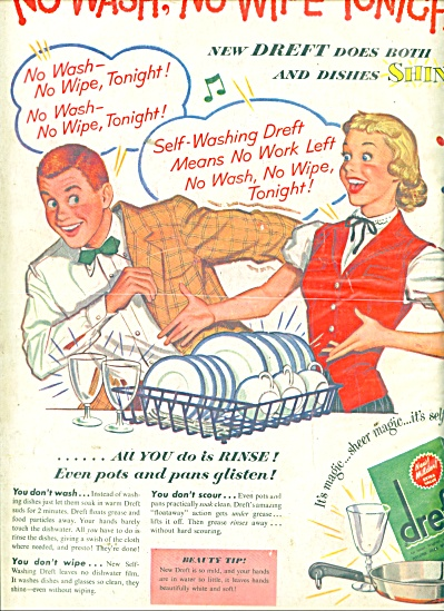 Dreft dish washing soap ad 1951 (Image1)