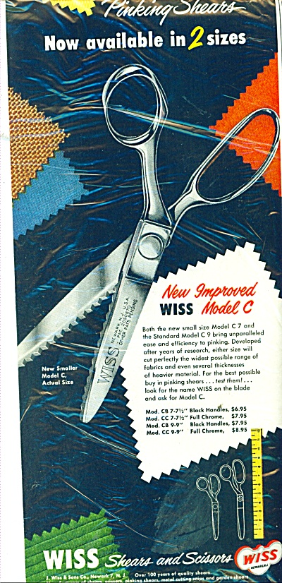 Wiss Pinking shears ad 1951 (Image1)
