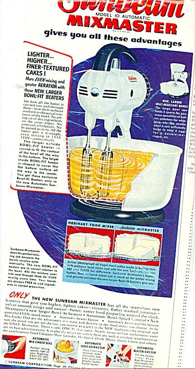 Sunbeam mixmaster ad 1951 (Image1)