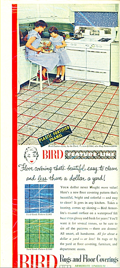 Bird Rugs and floor coverings ad 1951 (Image1)
