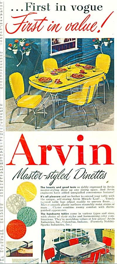 Arvin dinettes ad 1951 (Image1)