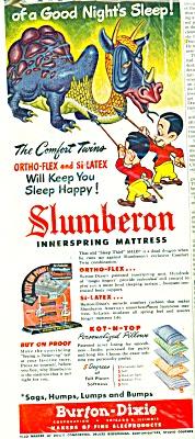 1951 Slumberon Mattress AD BurtonDixie DRAGON (Image1)