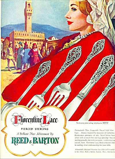 Florentine lace pierced sterling ad 1951 (Image1)
