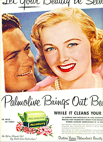 1951 Palmolive soap AD Beautiful BLONDE Model (Image1)
