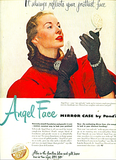 1951 ANGEL FACE Mirror CASE by POND'S AD (Image1)