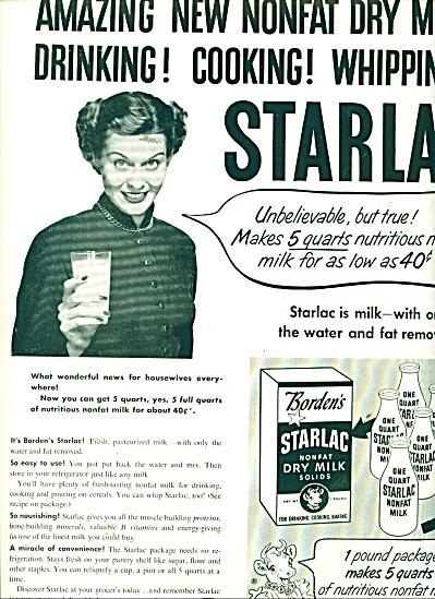 Sarlac non fat dry milk ad `1951 (Image1)