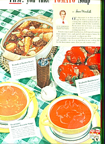 Campbell's Tomato soup ad 1951 TASTIER STEW (Image1)