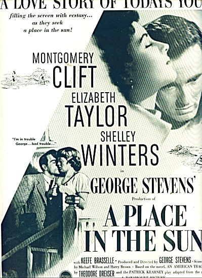 Movie AD PLACE IN THE SUN - ELIZABETH TAYLOR (Image1)