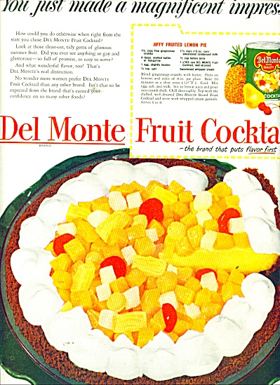 Del Monte Fruit cocktail ad 1951 (Image1)