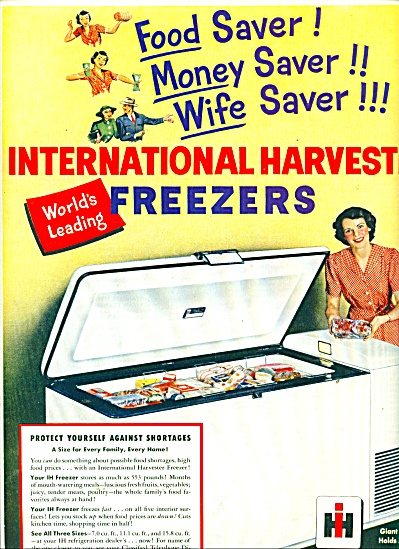 Internation Harvester Freezers ad 1951 (Image1)