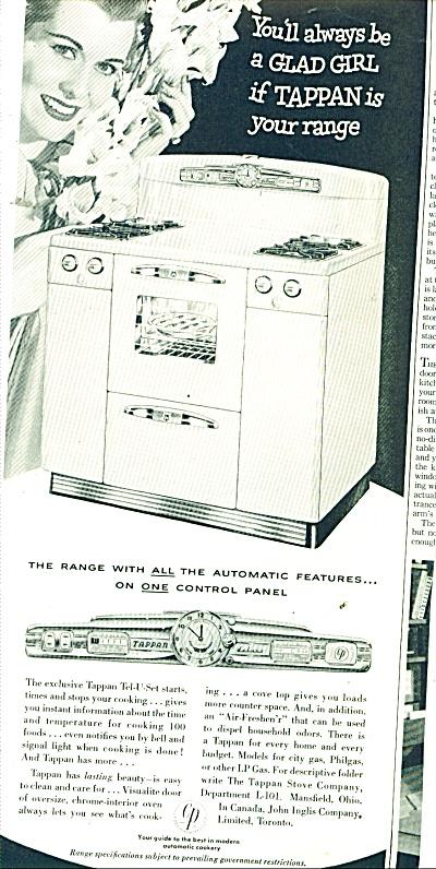 Tappan Gas range ad 1951 (Image1)