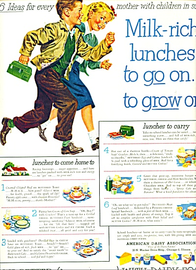 1951 American Dairy AD CUTEST KIDS ARTWORK (Image1)