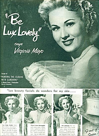 Lux soap - VIRGINIA MAYO -  ad 1951 (Image1)