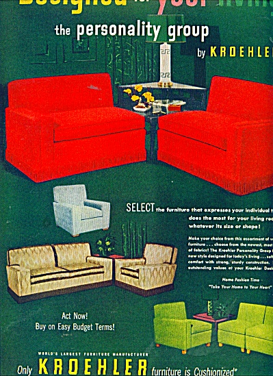 Kroehler furniture ad 1951 (Image1)