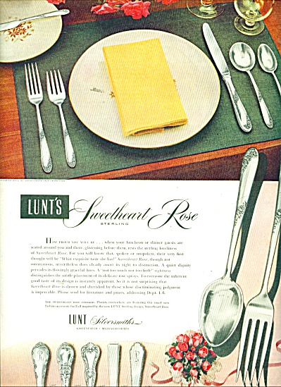 Lunt's silversmiths ad 1951 (Image1)