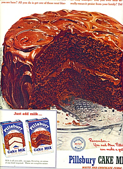 Pillsbury Cakes mixes ad 1951 (Image1)