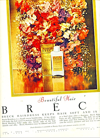 1951 Breck Hairdress Shampoo AD FLOWERS (Image1)