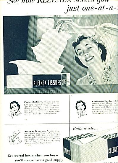 Kleenex tissues ad  1951 Tissue Facial (Image1)