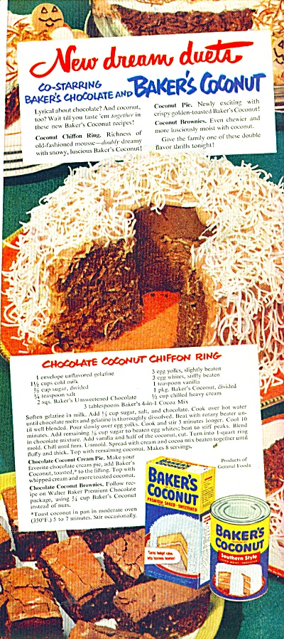 Baker's Coconut ad 1951 (Image1)