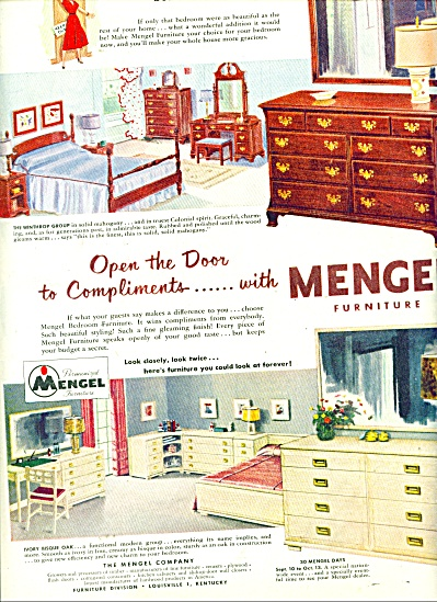 Mengel furniture ad 1951 (Image1)