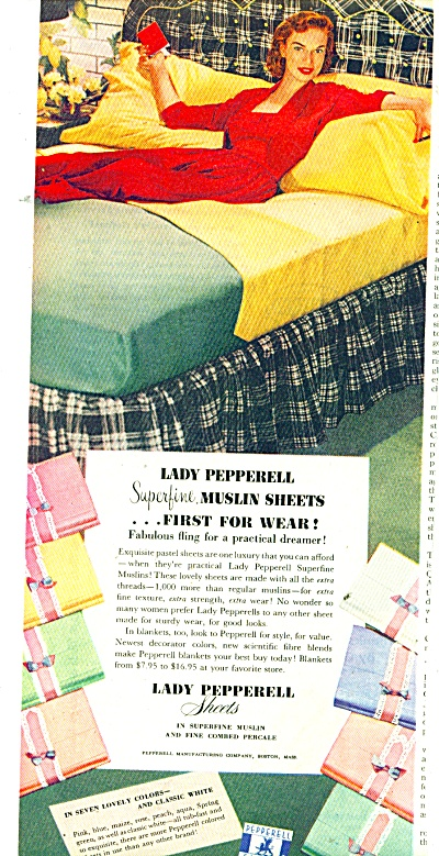 Lady Pepperell Sheets Ad 1951
