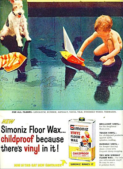 Simoniz floor war - Nude boy_ 1958 ad (Image1)