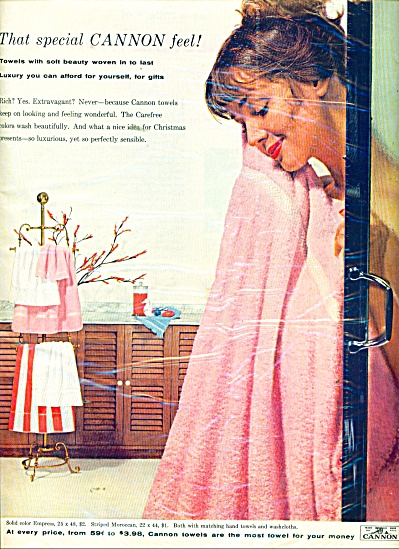 1958 Cannon Towel AD  Model Dolores Hawkins (Image1)