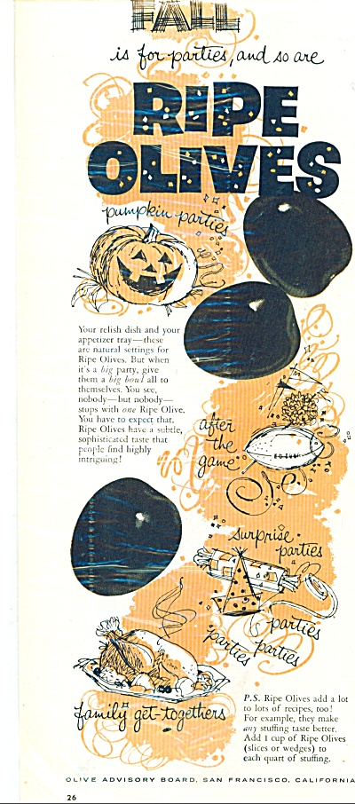 Ripe olives ad 1958 (Image1)