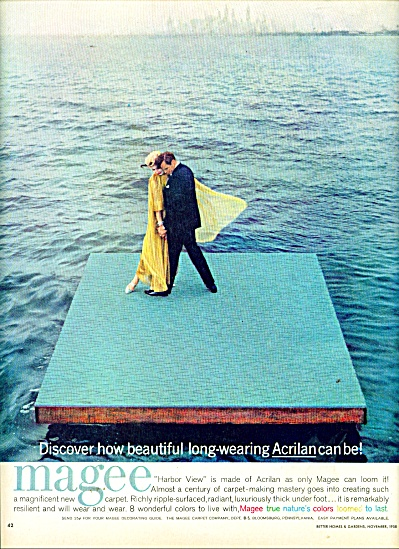 1958 Magee Carpet AD COUPLE DANCING  NEW YORK (Image1)