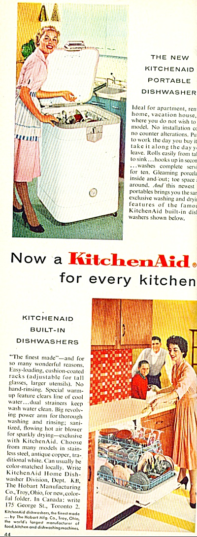 Kitchen aid dishwasher ad 1958 (Image1)