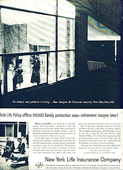 New York Life Insurance company ad 1958 (Image1)