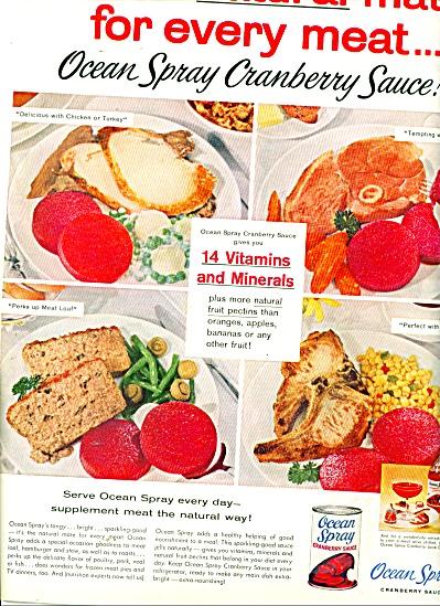 Ocean Spray Cranberry sauce ad 1958 (Image1)