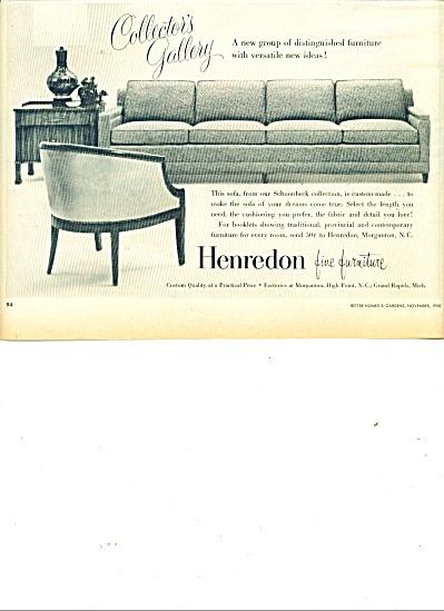 Henredon fine furniture ad 1958 (Image1)