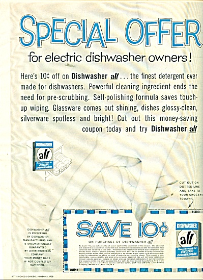 All Dishwasher soap ad  1958 (Image1)