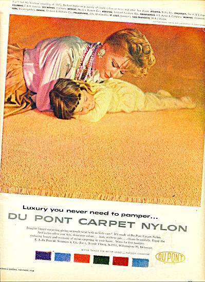 Dupont Carpet Nylon ad 1958 (Image1)