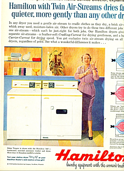 Hamilton Washer & dryer ad 1958 (Image1)