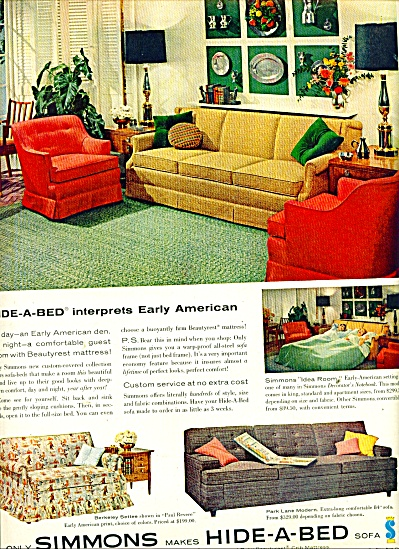 Simmons Hide a bed sofa ad 1958 (Image1)