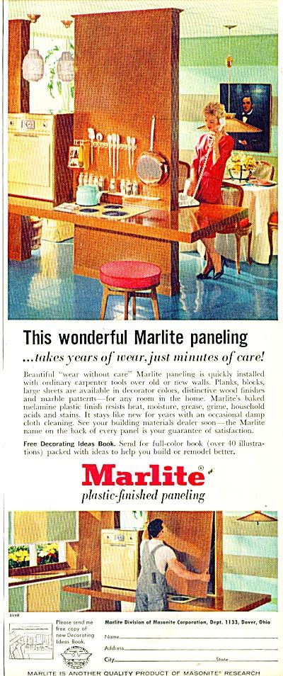 Marlite plastic finished paneling ad 1958 (Image1)