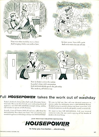 Housepower Ad  1958 (Image1)