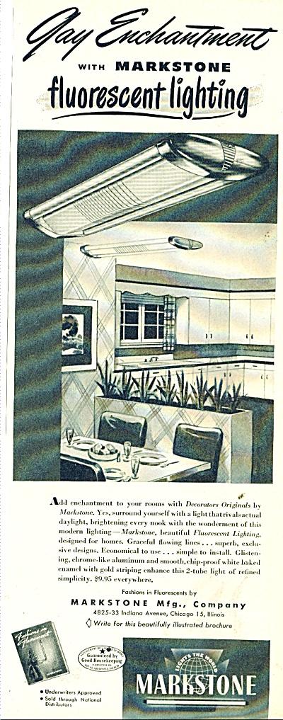 Markstone fluorescent lighting ad 1947 (Image1)