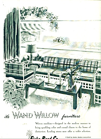 Wand Willow Furniture Ad 1947