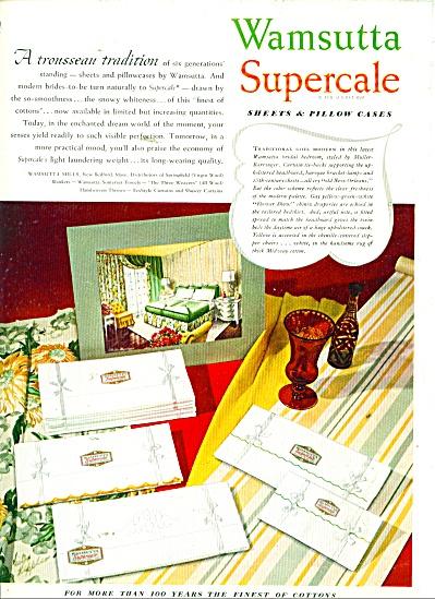 1947 Wamsutta Linens VICTOR KEPPLER Art AD (Image1)